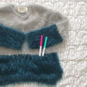 ZARA Girls | Fuzzy sweater with pockets EUC | 3-5Y